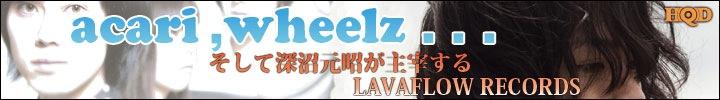 acari,wheellz,深沼元昭主宰レーベルLAVAFLOW RECORDS