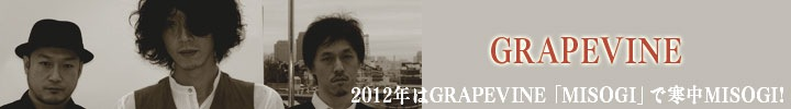 GRAPEVINE「MISOGI」2週間限定ストリーミング配信開始!