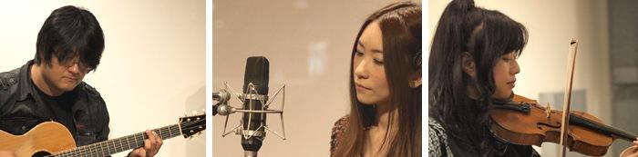 Suaraアコースティック・セットでのDSD録音『DSD live session』