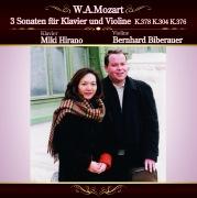 モーツァルト:ピアノとヴァイオリンのための三つのソナタ