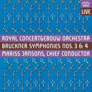 """Bruckner: Symphonies Nos 3 & 4, """"Romantic"""" (Live)"""