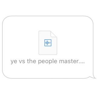 Ye vs. the People (starring TI as the People)