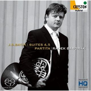 J.S.バッハ:組曲第4、5番、パルティータ <無伴奏チェロ組曲&無伴奏フルート・ソナタ ホルン版>