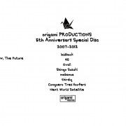 origami PRODUCTIONS 5th Anniversary Special Disc 2007-2012