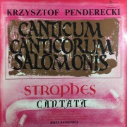 Canticum Canticorum Salomonis. Strophes. Cantata