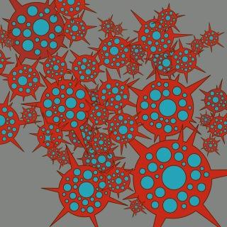 赤い花・青い花 / 銀色モノクローム