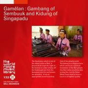 THE WORLD ROOTS MUSIC LIBRARY:バリ/スンブウックのガンバンとシンガパドゥのキドゥン