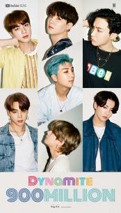 BTS、「Dynamite」MVが9億再生突破
