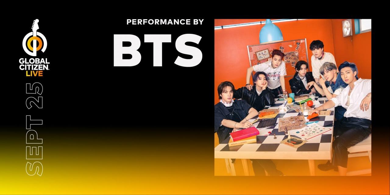 BTS、9月開催の大規模生中継イベント〈2021 Global Citizen LIVE〉に参加