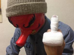 天狗バンドの木須、中指骨折によりワンマン欠場で謝罪