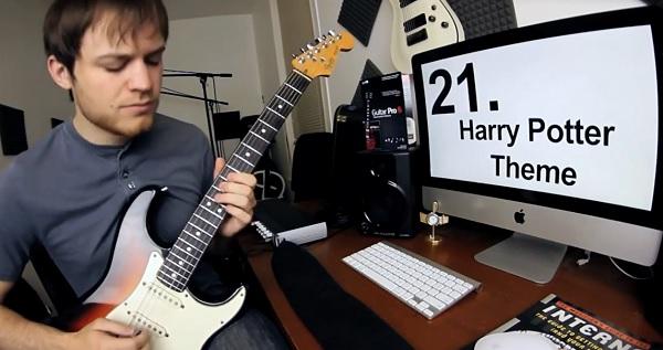 マリオからツェッペリンまで30曲を1分でギター演奏する動画が話題に