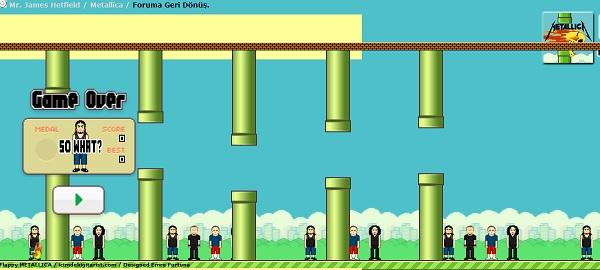 『Flappy Bird』のメタリカ版無料ゲーム『Flappy METALLICA』をやってみた