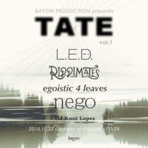 BAYON PRODUCTION初イベント〈TATE〉今週開催