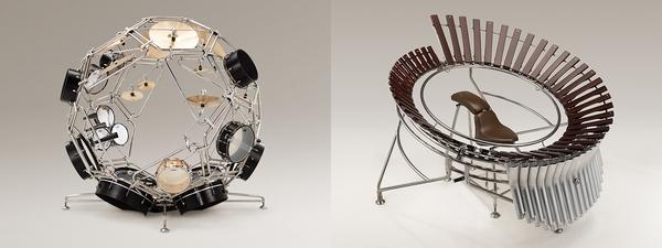 """ヤマハ発動機がデザインした""""球体型ドラム""""と""""2人用マリンバ""""がすごい"""