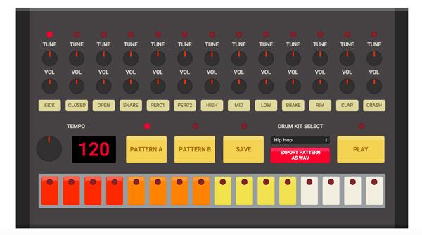 ブラウザがドラムマシンに! 808に909!