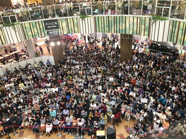 クラムボン、イオンモールに驚異の5,000人集客