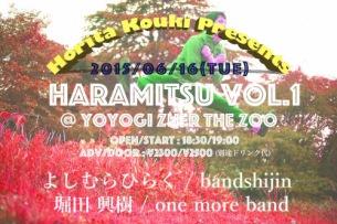 堀田興樹 自主企画ライヴ・イベント〈HARAMITSU vol.1〉開催決定