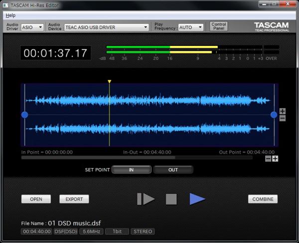 TASCAMがDSD11.2MHzまで編集できるハイレゾ波形編集ソフトをフリーでリリース!