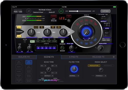 Pioneer DJがiPad用サウンド・エフェクト〜楽曲制作アプリ、RMX-1000 for iPadを発表!