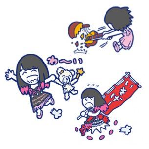 大森靖子のLINEスタンプ発売! ナカG描き下ろし、ナナちゃんやマネージャーも登場