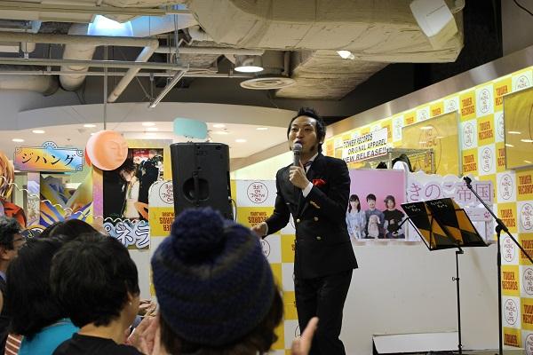 上杉周大、タワレコ新宿店イベントで身体の芯から熱くなる全力シャウト-OTOTOYライヴレポ