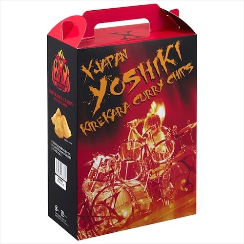X JAPANツアー・グッズ「YOSHIKI伝説 キレ辛カレーチップス」が一時完売の人気