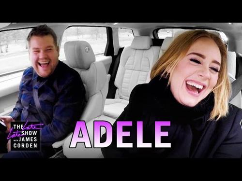アデル、スパイス・ガールズを車中で熱唱動画公開