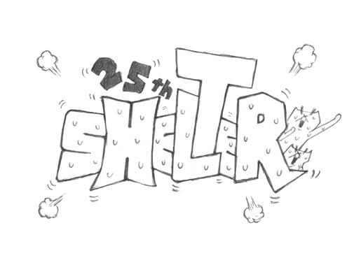 祝・SHELTER25周年! 芦沢ムネトがロゴを制作