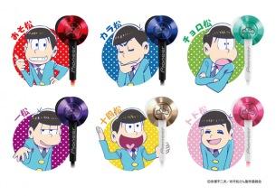 おそ松さん限定インナーイヤーヘッドホン「おと松さん」6色カラー展開で発売