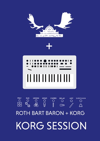 ROTH BART BARON、スペシャル・イベント〈KORG SESSION〉でコルグ歴代シンセを弾き倒す!