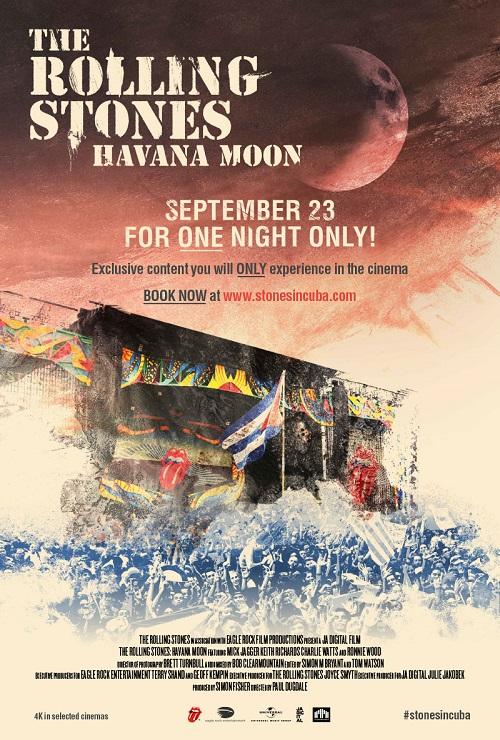ストーンズ初のキューバ公演が映画化! 9月に全世界で一夜限りのプレミア上映決定