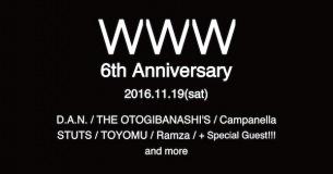 渋谷WWW 6周年をお祝い D.A.N.、THE OTOGIBANASHI'S、STUTSら集う