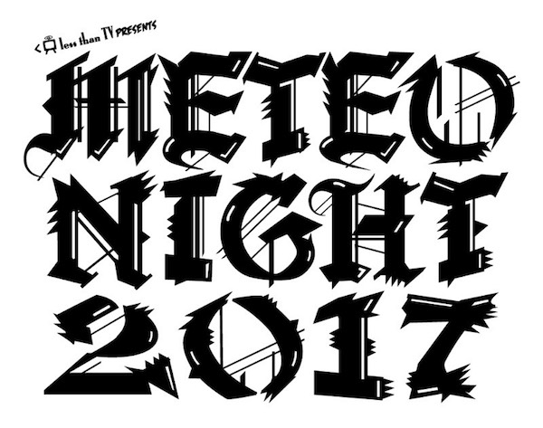 〈METEO NIGHT 2017〉タイムテーブル公開 & DOMMUNEにて特番放送決定!!