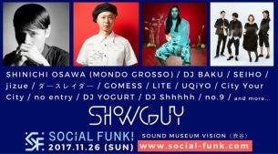 「SHOWGUY(障害)」をテーマにした医療福祉音楽イベント『SOCiAL FUNK!』に大沢伸一やSeiho、ダースレイダーら出演決定
