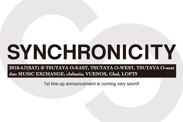 『SYNCHRONICITY'18』渋谷8会場、過去最大規模で開催決定 終演後アフターパーティーも