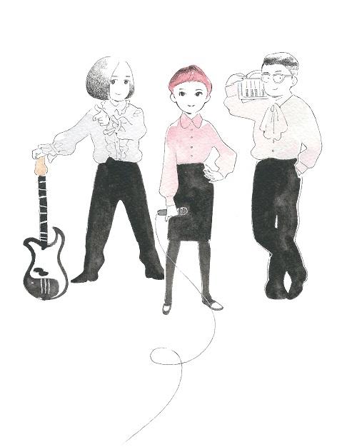 空気公団、新アーティスト写真もあの人が描き下ろし! MVには注目の若手俳優
