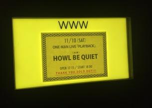 新ベーシスト加入のHOWL BE QUIET、渋谷WWWで再スタートを切る―OTOTOYミニ・レポート