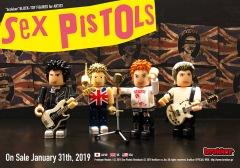 ブロックトイフィギュア「brokker」に、英国パンクの先駆者Sex Pistolsが登場、日本限定先行予約開始