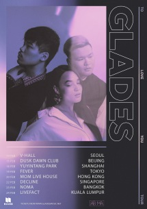 kolmeがオーストラリア・シドニーの男女3人組エレクトロポップ・バンド Gladesのアジア・ツアー東京公演サポート・アクトに決定