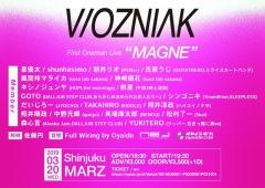 星優太ソロ・プロジェクトWOZNIAK、初ワンマン・ライヴが3月20日新宿MARZにて開催決定