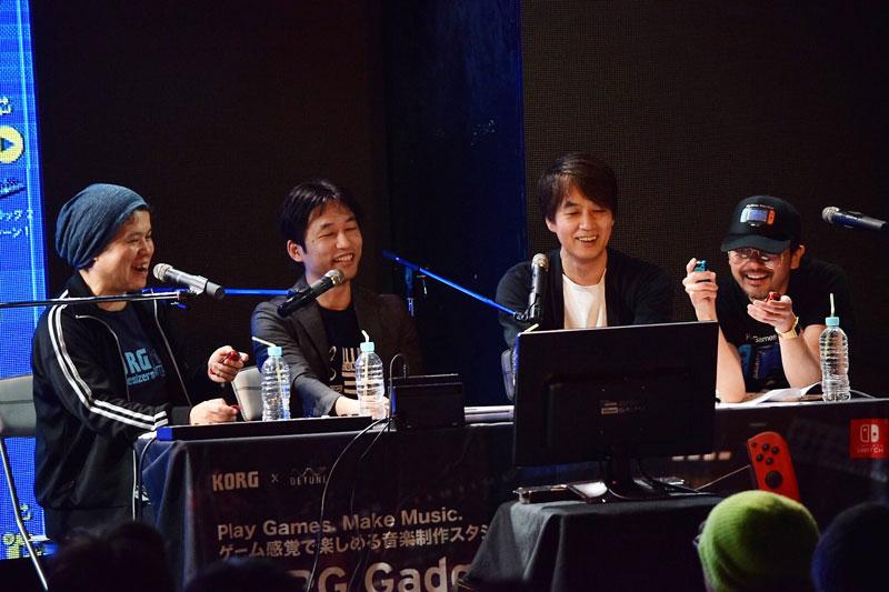 楽器メーカー・コルグ、ゲームメーカー・セガ、タイトーによる〈KORG Gadget Home Party Vol.2〉イベント・レポート