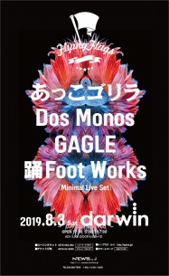 〈Flying Flags〉Vol.6開催決定、あっこゴリラ、Dos Monos、GAGLE、踊Foot Worksが出演