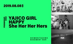 FRIENDSHIP.主催イベントにHAPPY,YAJICO GIRL,She Her Her Hersが出演