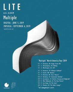 LITE、全11公演の北米ツアー&『Multiple』アナログ盤リリース決定