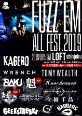 KAGERO主催〈FUZZ'EM ALL FEST.2019〉第3弾でI love you Orchestra Swing Style、魁 の出演が決定