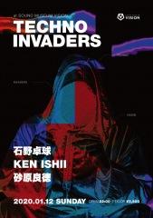 石野卓球、KEN ISHII、砂原良徳ら、渋谷VISION〈TECHNO INVADERS〉に登場