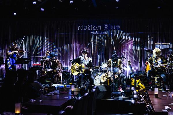 """THE PINBALLS、ロマンチックでゴージャスに""""Dress up""""したMotion Blue YOKOHAMA―オフィシャル・ライヴレポート"""