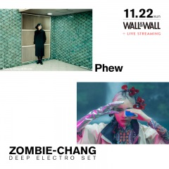"PhewとZOMBIE-CHANGの""DEEP ELECTRO SET""がWALL&WALLで共演"